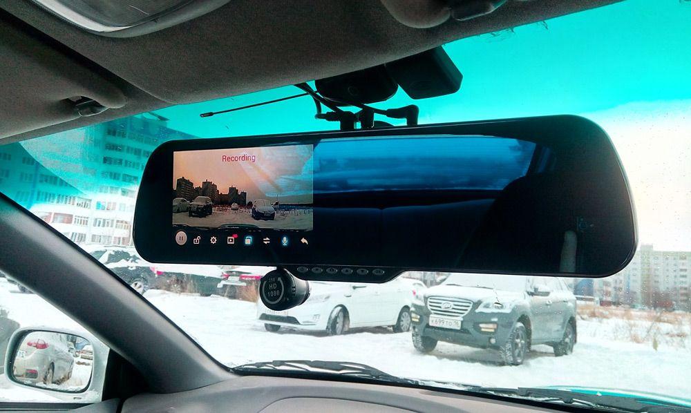Регистратор в зеркале заднего вида с камерой заднего вида на андроид критерии выбора автомобильного видеорегистратора